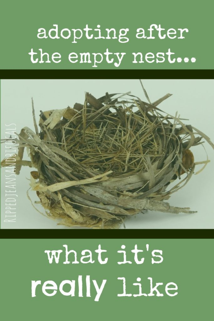 Feathering our empty nest|Ripped Jeans and Bifocals