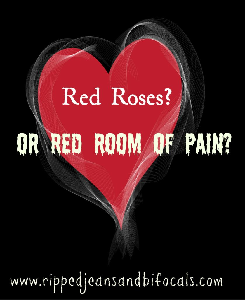 Valentine s day red roses or red room of pain ripped jeans