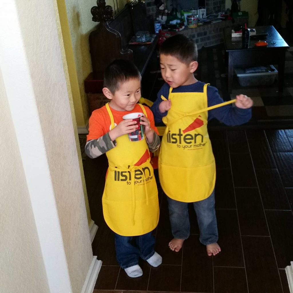 My two helpers. #kidsofinstagram #kidsinthekitchen #LTYM #socuteicantstandit @ltymshow
