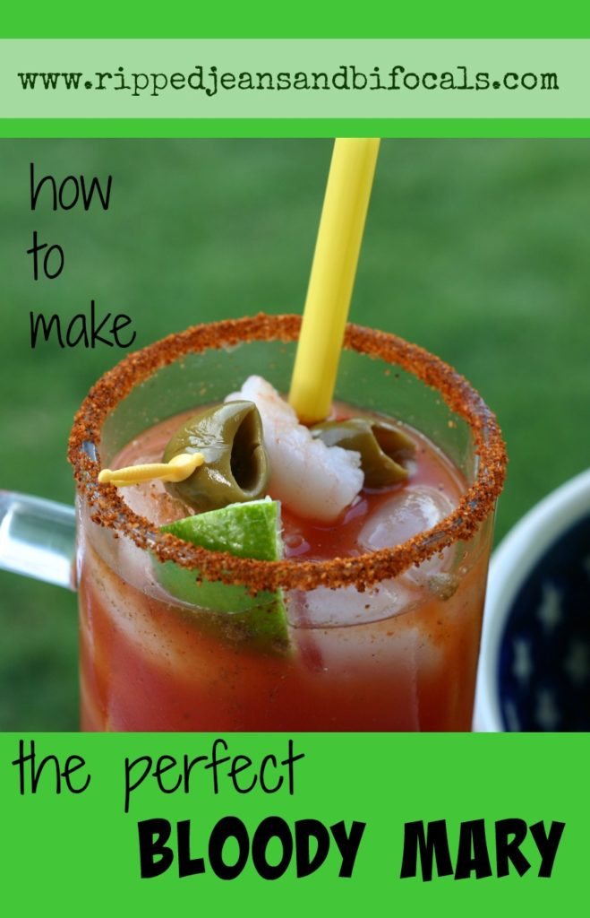 How to make the perfect Bloody Mary|Ripped Jeans and Bifocals|Cocktails|drink recipes|Bloody Mary|www.rippedjeansandbifocals.com|@JillinIL
