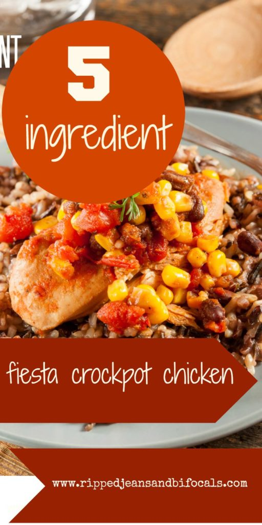 Crockpot chicken fiesta is easy, delicious and can be made ahead and to|crockpot chicken|easy recipe|gluten-free|