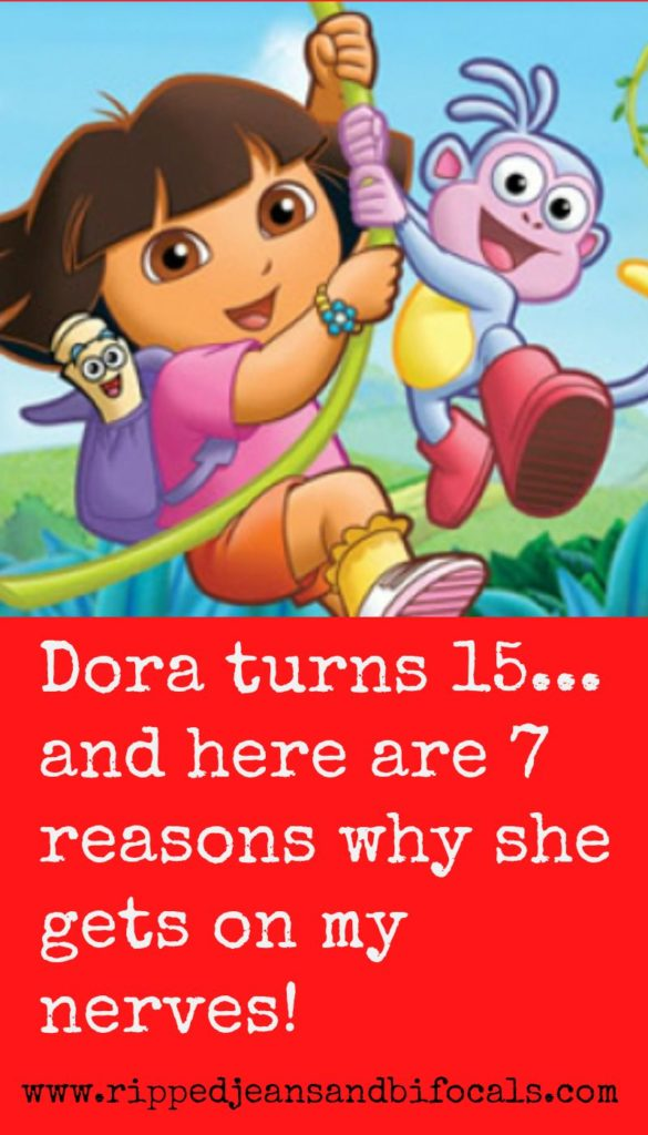 Dora the Explorer is turning 15 and here's how I feel about it|Ripped Jeans and Bifocals|Dora the Explorer|annoying kids shows|cartoon ideas|