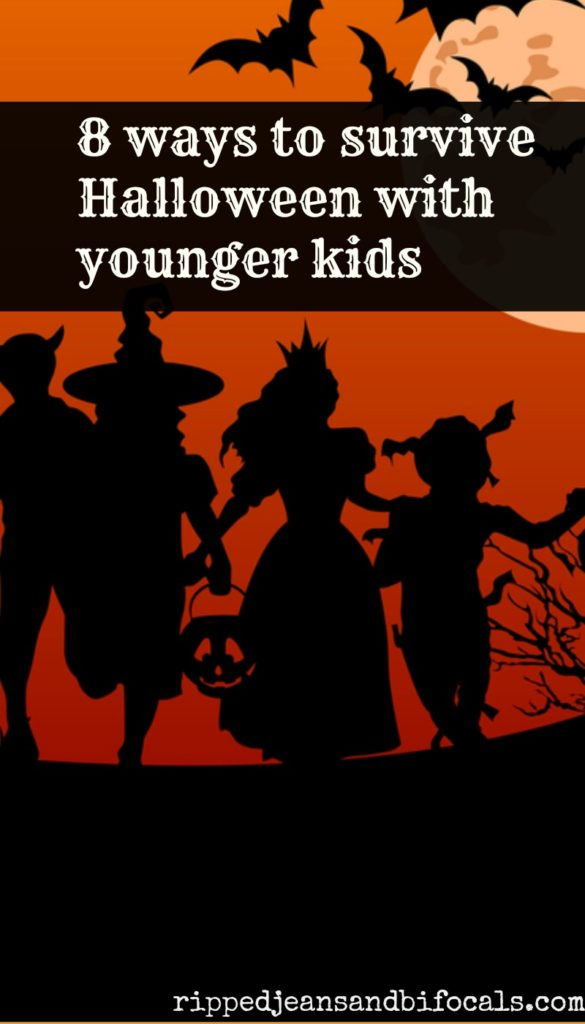 8 ways to survive Halloween with younger kids|Ripped Jeans and Bifocals|Halloween Ideas|Trick or treat ideas|ideas for kids on Halloween|