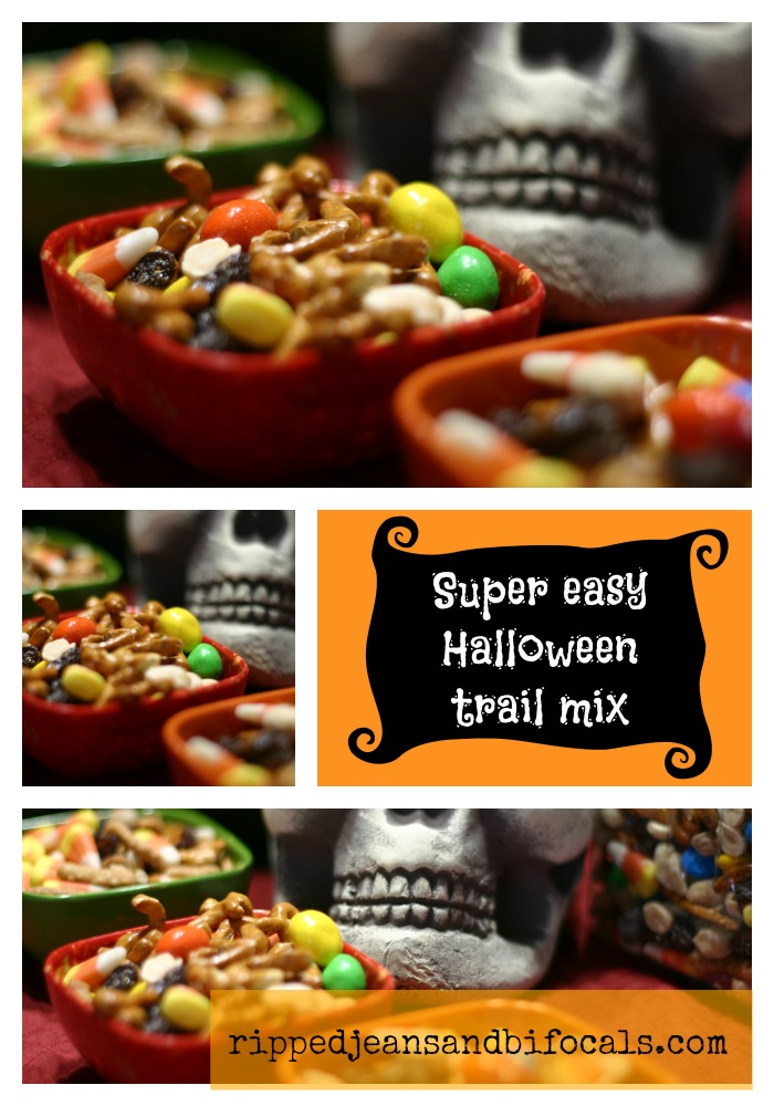 Super easy Halloween trail mix|Ripped Jeans and Bifocals|Halloween ...