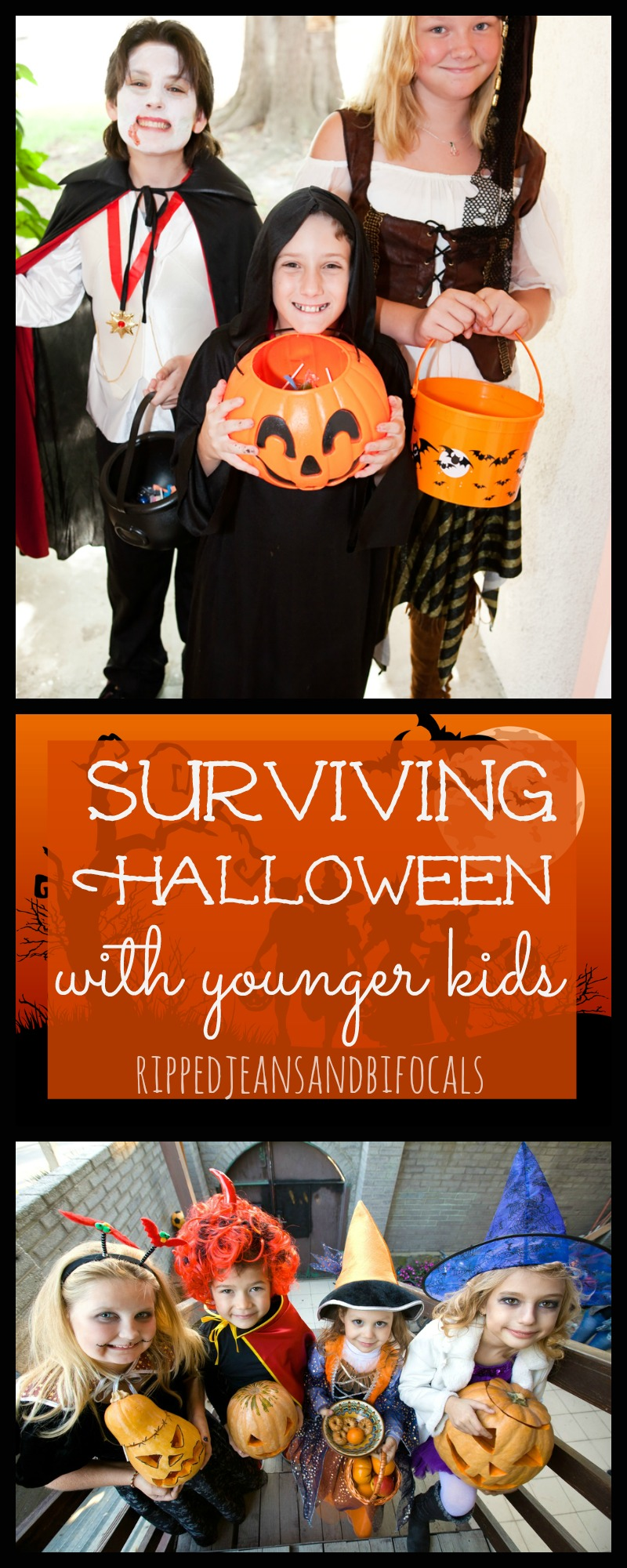 Eight tips for surviving Halloween with Younger Kids|Ripped Jeans and Bifocals
