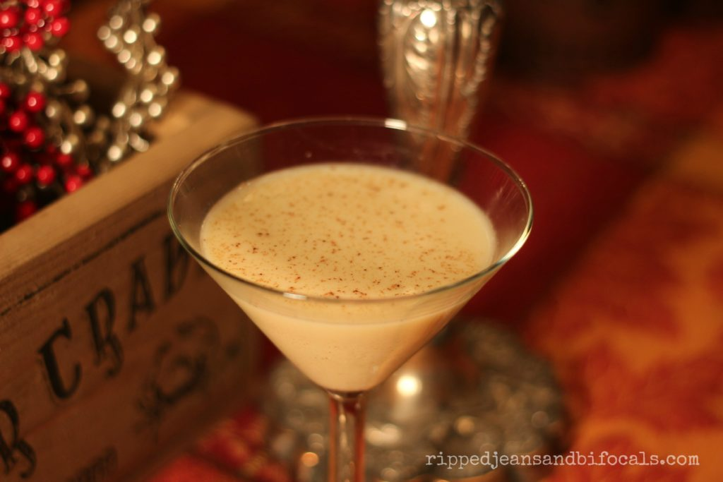 How to make the perfect eggnog martini|Ripped Jeans and Bifocals|A delicious twist on traditional eggnog|