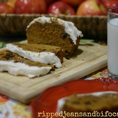 Amazingly Easy Frosted Pumpkin Spice Cake