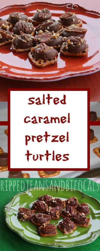 Salted Caramel Pretzel Turtles|Ripped Jeans and Bifocals