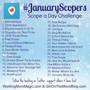 January Periscope Challenge #JanuaryScopers