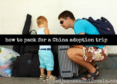 How to pack for a China adoption trip