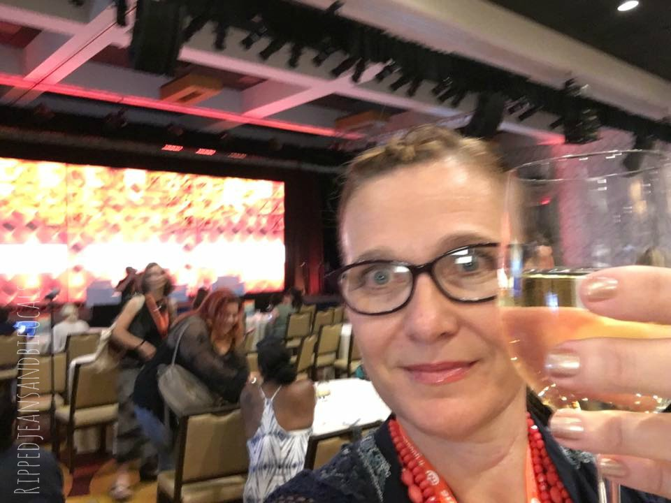 Behind the scenes at BlogHer16|Ripped Jeans and Bifocals