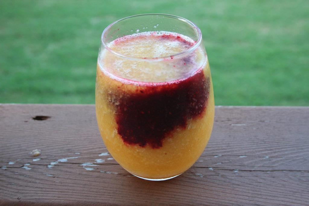 Peach berry wine slushy|Ripped Jeans and Bifocals