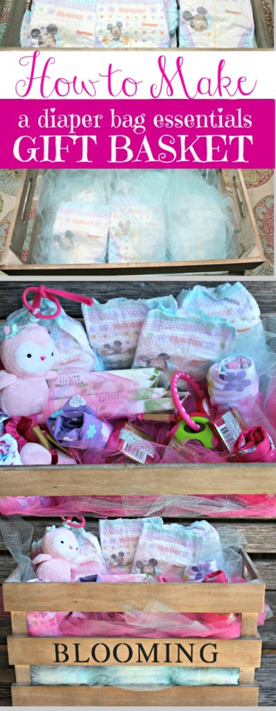 How to make a diaper bag essentials gift basket|Ripped Jeans and Bifocals