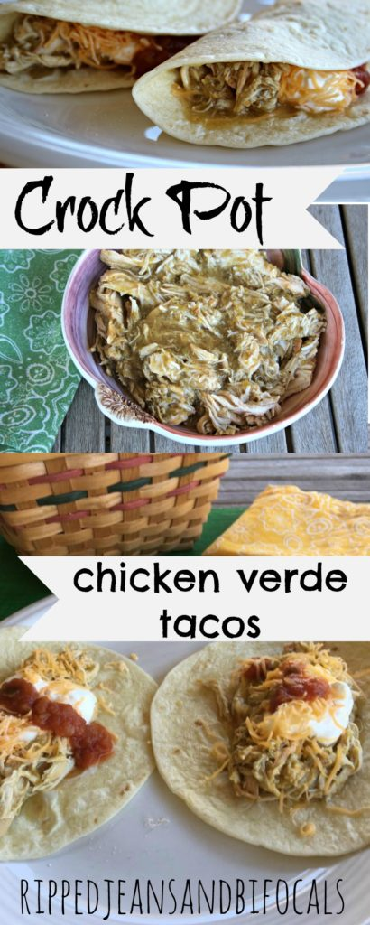 Crock Pot Chicken Verde Tacos|Ripped Jeans and Bifocals