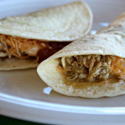Crock Pot Chicken Verde Tacos