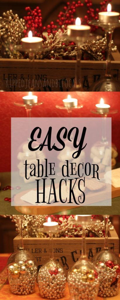 Fast and easy holiday table decor|Ripped Jeans and Bifocals
