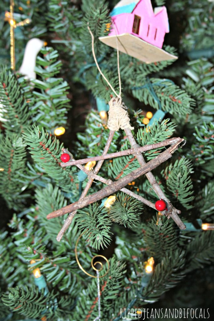 Easy DIY Christmas Twig Stars|Ripped Jeans and Bifocals
