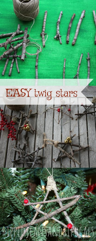 Easy DIY Twig Stars - Easy Craft for Kids!