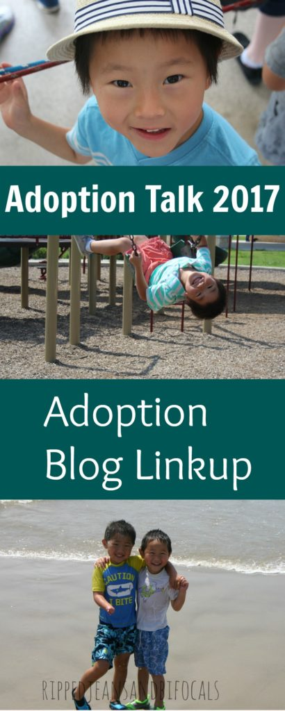 Adoption Talk 2017 Blog Linkup|Ripped Jeans and Bifocals