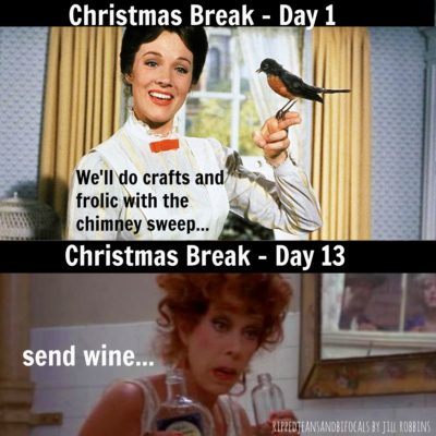 Christmas break is almost over – The Tuesday Meme