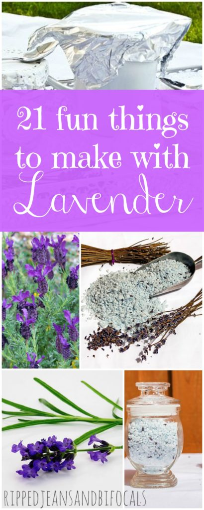 21 fun things to make with lavender|Ripped Jeans and Bifocals