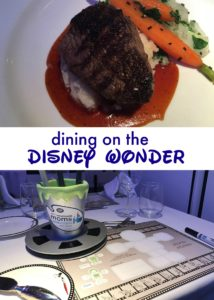 Dining on the Disney Wonder Mini Pin