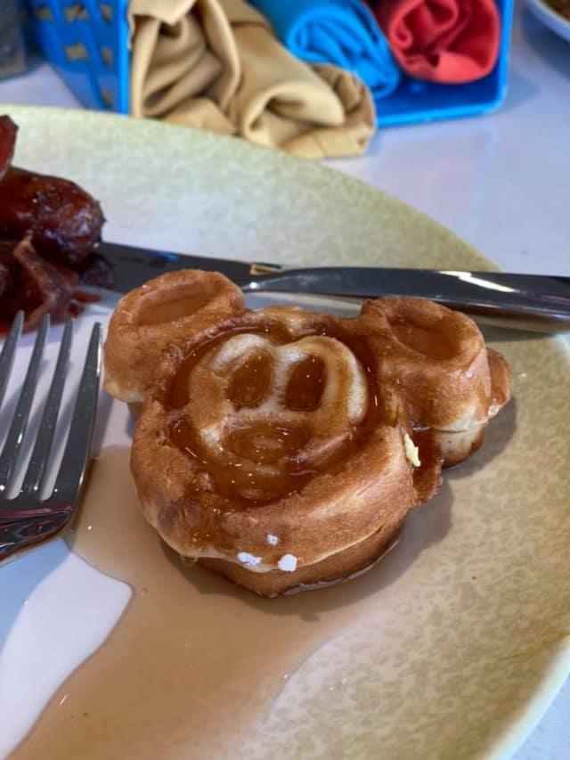 Mickey Waffle at Cabana's on Disney Cruise Line