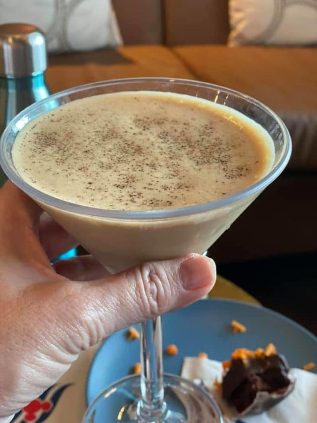Chocolate martini on Disney Wonder
