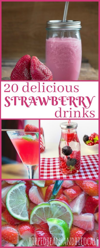 20 Delish Strawberry Drinks|Ripped Jeans and Bifocals