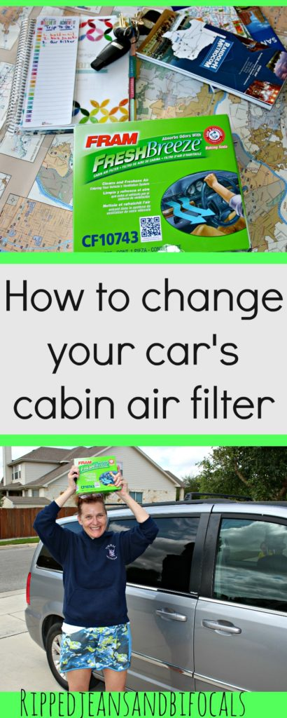 How to Change Your Car's Cabin Air Filter|Ripped Jeans and Bifocals