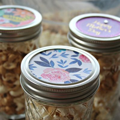 Mother's Day Gift Idea: Mason Jars with Upcycled Greeting Cards