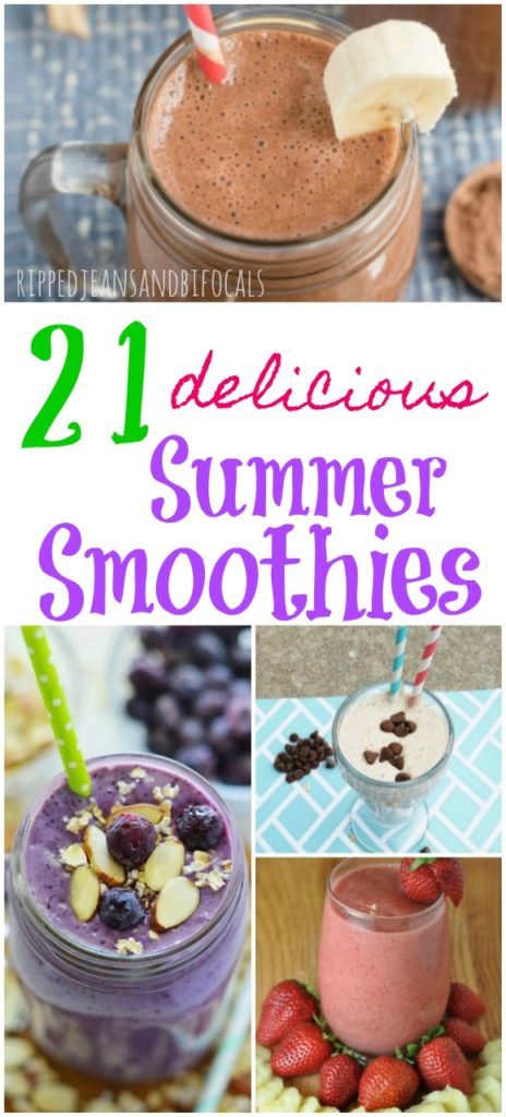 21 Delicious Smoothie Recipes for Summer|Ripped Jeans and Bifocals