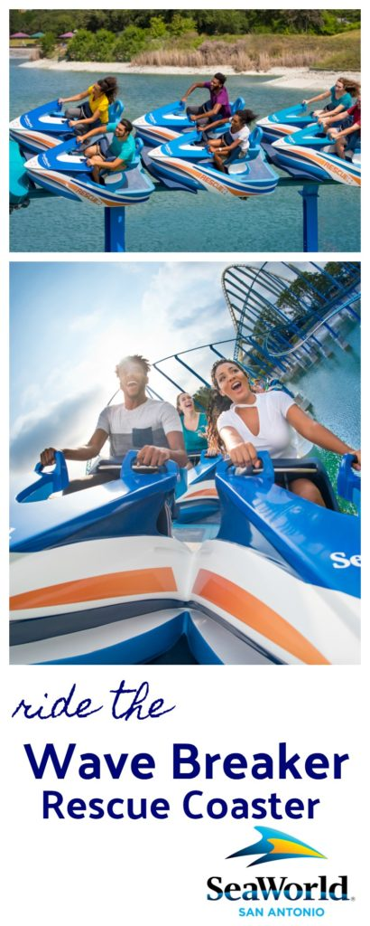 Wave Breaker Rescue Coaster at SeaWorld Ripped Jeans and Bifocals