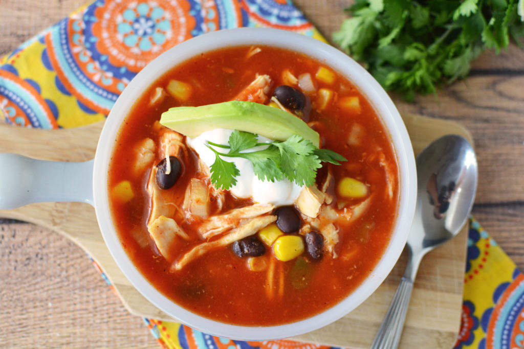 Slow Cooker Chicken Tortilla Soup Ripped Jeans and Bifocals