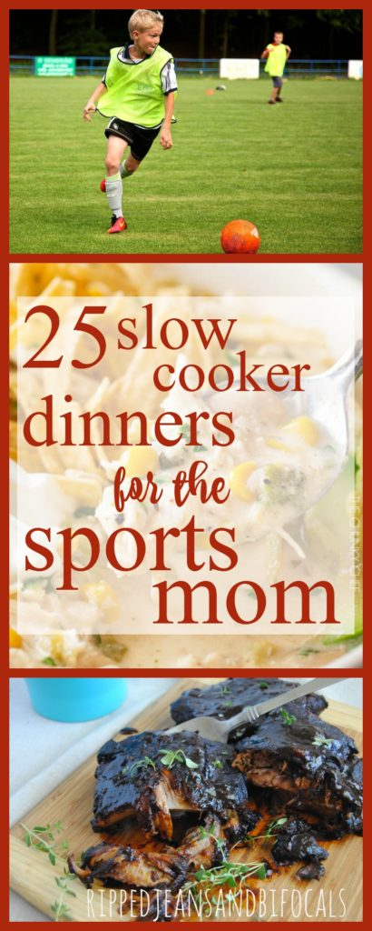 25 Slow Cooker recipes for the Sports Mom|Ripped Jeans and Bifocals