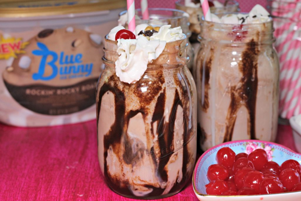 Old-Fashioned Rocky Road Ice Cream Soda|Ripped Jeans and Bifocals
