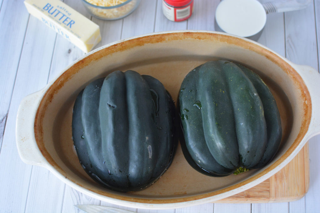 How to make an baked acorn squash dish with butter and cream|Ripped Jeans and Bifocals