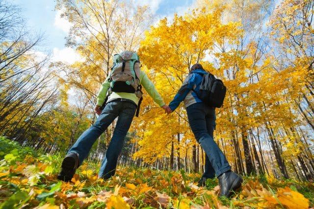 Fall family hiking