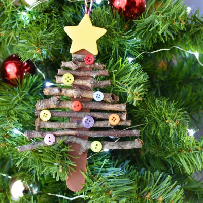 Easy Popsicle Stick Christmas Tree Ornaments