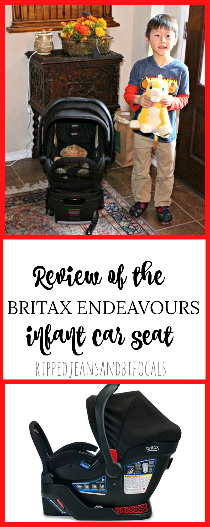 Review of the Britax Endeavours Infant Car Seat|Ripped Jeans and Bifocals
