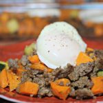 Savory sweet potato and sausage breakfast casserole|Ripped Jeans and Bifocals