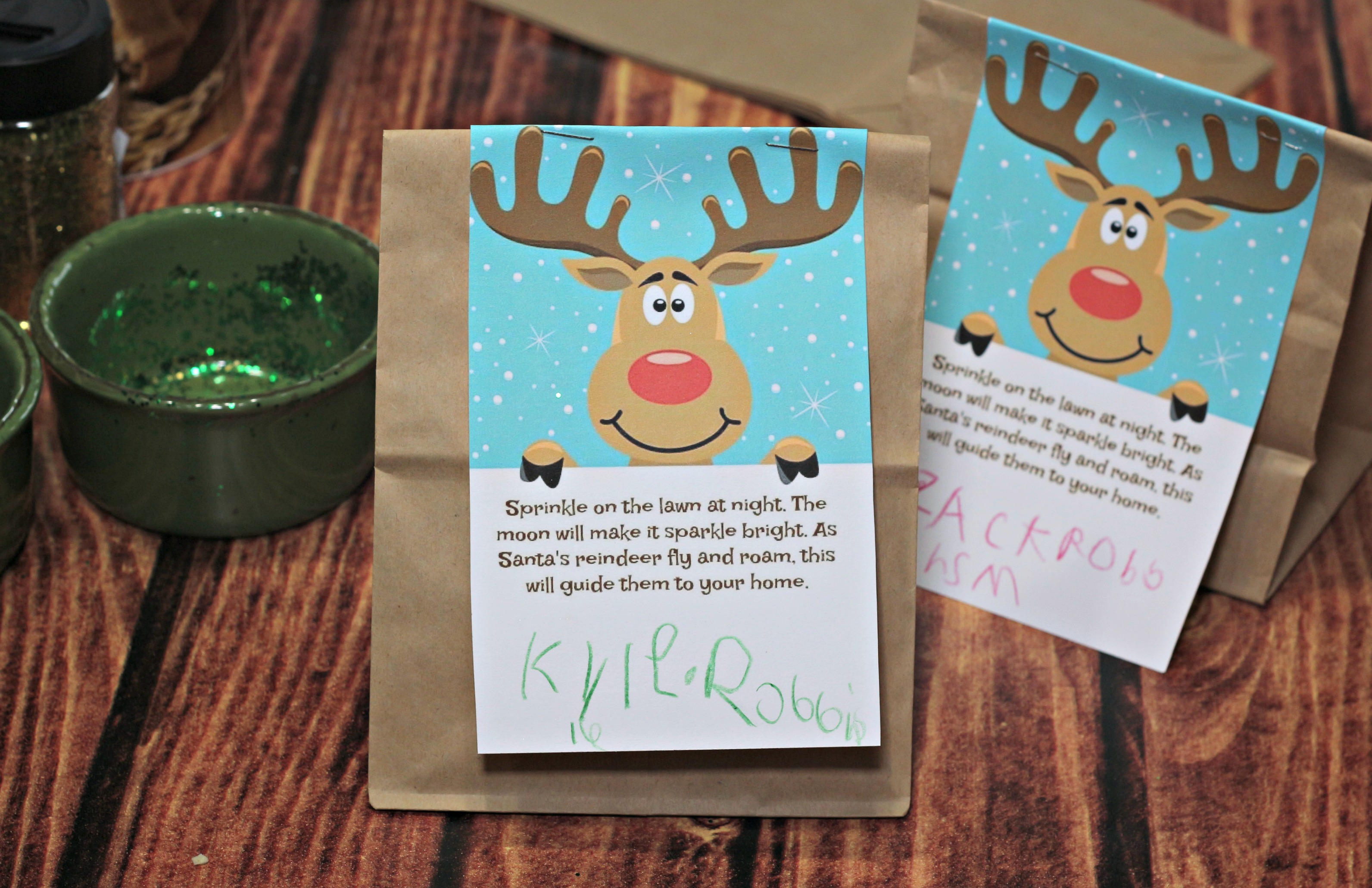 Easy and Free Reindeer Dust Printable|Ripped Jeans and Bifocals