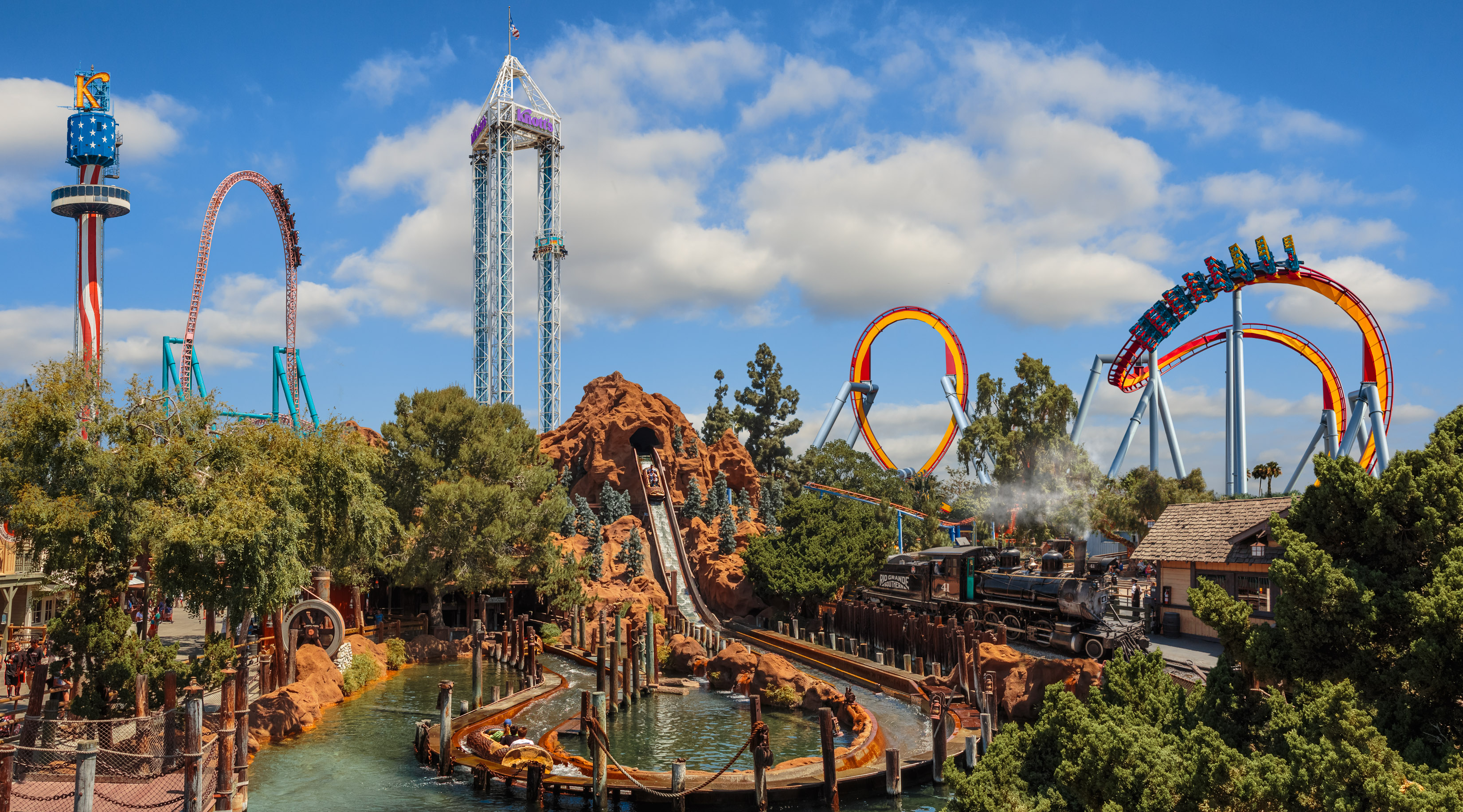 If you're looking for active vacation ideas in Southern California, don't miss Knott's Berry Farm! They have something for everyone!