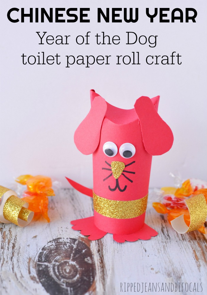 Make this cute, Chinese New Year Craft to ring in the Year of the Dog...perfect for party favors, scout troops or classroom/youth group activities|Ripped Jeans and Bifocals