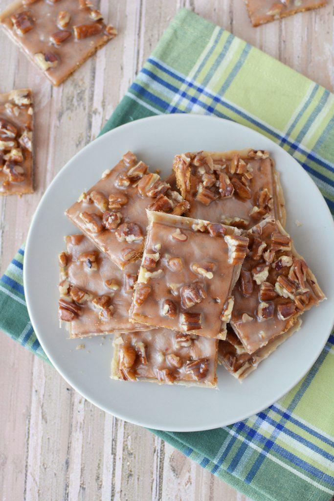 Toffee Graham Cracker Cookies