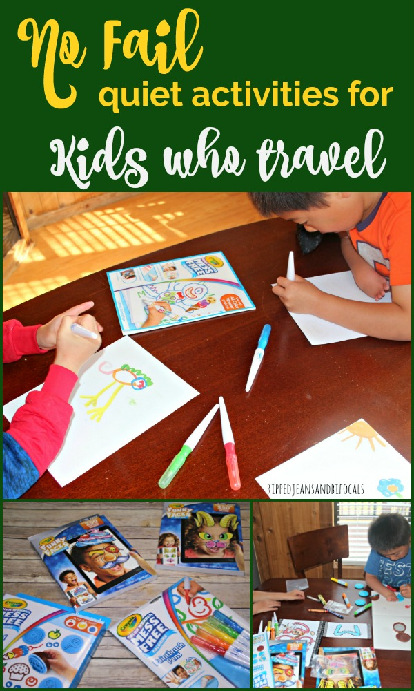 Crayola Activities for Kids who Travel - Ripped Jeans & Bifocals
