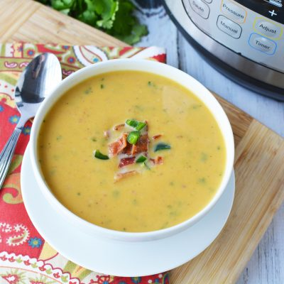 Instant Pot Sweet Potato and Jalapeno Soup
