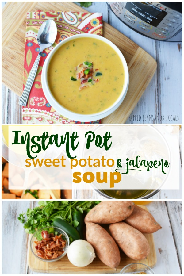 Instant Pot Sweet Potato and Jalapeno Soup|Ripped Jeans and Bifocals