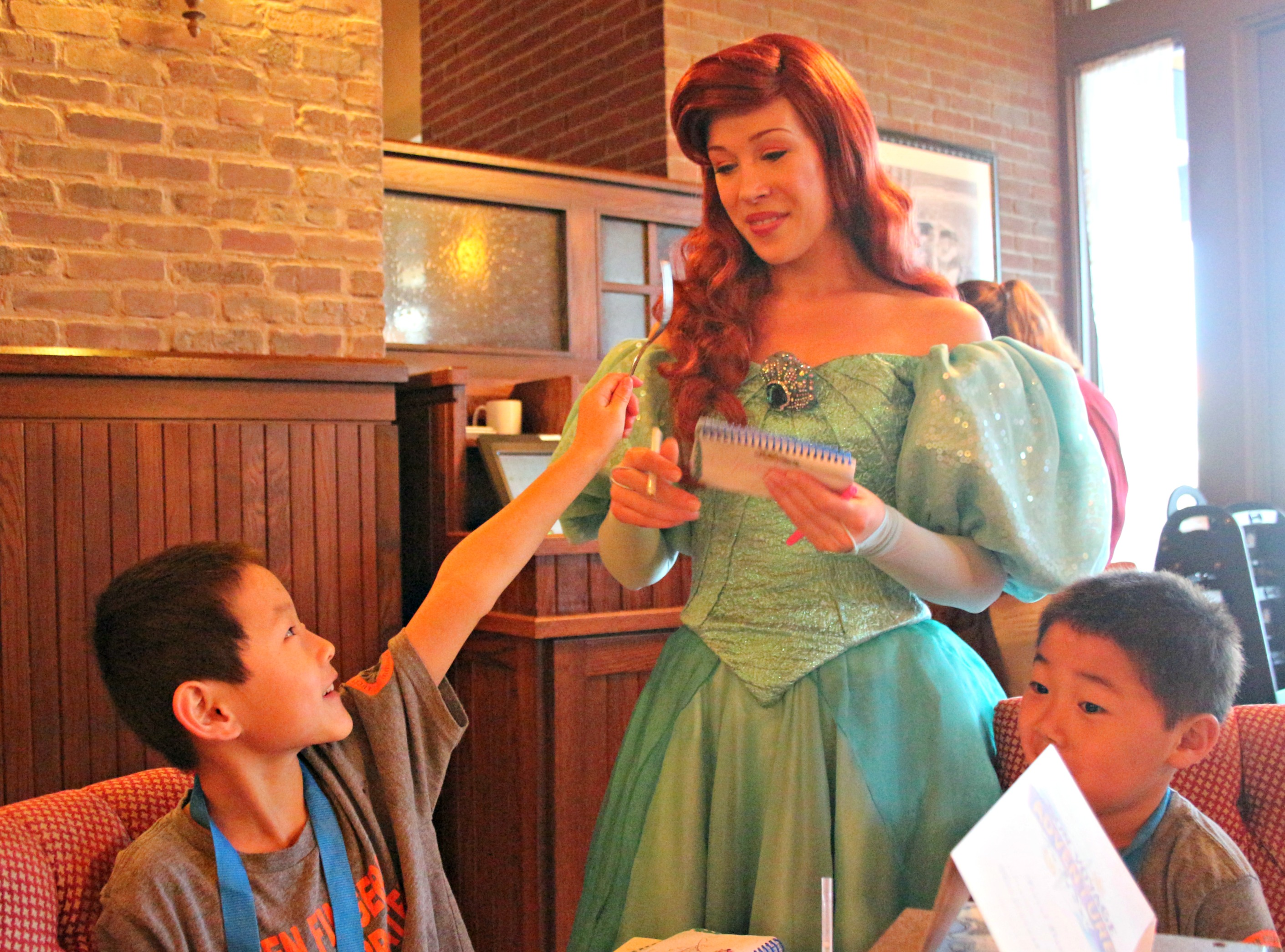 You can meet Ariel at the Bon Voyage Adventure Breakfast at Trattoria al Forno