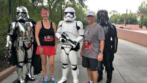 The Star Wars Half Marathon was my first RunDisney event. My husband and I did the Dark Side Half Marathon and we're officially RunDisney addicts now!